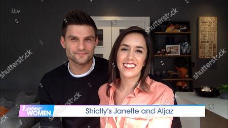 Stock Photo of Aljaz Skorjanec and Janette Manrara