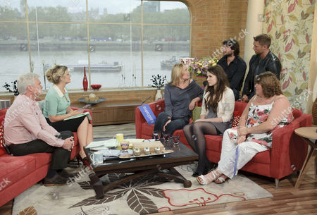 Phillip Schofield and Holly Willoughby with 'Eastenders' Marc Elliott, John Partridge, Laurie Brett, Emer Kenny and Cheryl Fergison.