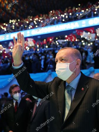 Editorial picture of Justice and Development Party (AKP) congress in Istanbul, Turkey - 24 Feb 2021