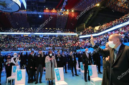 Editorial image of Justice and Development Party (AKP) congress in Istanbul, Turkey - 24 Feb 2021