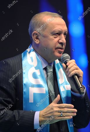 Editorial photo of Justice and Development Party (AKP) congress in Istanbul, Turkey - 24 Feb 2021