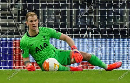 Goalkeeper Joe Hart of Tottenham Hotspur makes a save