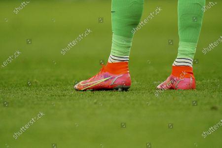 Detail of the boots of Goalkeeper Joe Hart of Tottenham Hotspur