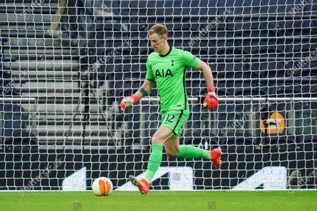 Goalkeeper Joe Hart of Tottenham Hotspur kicks the ball