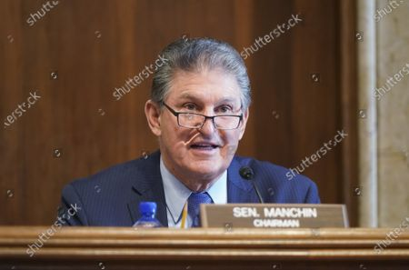 Sen. Joe Manchin, D-W.Va., speaks during a Senate Committee on Energy and Natural Resources hearing on the nomination of Rep. Debra Haaland, D-N.M., to be Secretary of the Interior on Capitol Hill in Washington