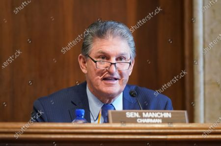 Sen. Joe Manchin, D-W.VA., chairman of the Senate Committee on Energy and Natural Resources, gives opening remarks at the confirmation hearing for Rep. Deb Haaland, D-NM., President Joe Biden's nominee for Secretary of the Interior, at the U.S. Capitol in Washington DC