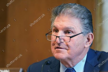 Sen. Joe Manchin, D-W.VA., chairman of the Senate Committee on Energy and Natural Resources, ask questions at the confirmation hearing for Rep. Deb Haaland, D-NM., President Joe Biden's nominee for Secretary of the Interior, at the U.S. Capitol in Washington DC
