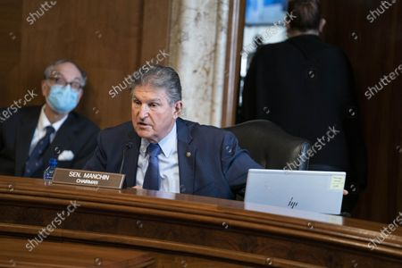 Senator Joe Manchin, a Democrat from West Virginia and chairman of the Senate Energy and Natural Resources Committee, speaks during a confirmation hearing for Representative Deb Haaland, a Democrat from New Mexico and secretary of the interior nominee for U.S. President Joe Biden, in Washington, DC, USA, on 24 February 2021.