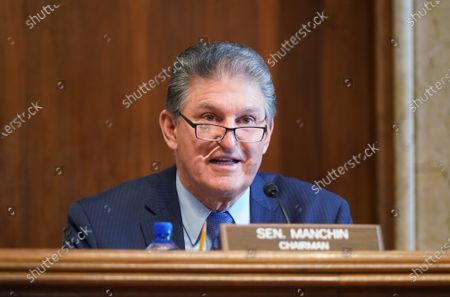 Sen. Joe Manchin, D-W.VA., chairman of the Senate Committee on Energy and Natural Resources, gives opening remarks at the confirmation hearing for Rep. Debra Haaland, D-NM., President Joe Biden's nominee for Secretary of the Interior, at the U.S. Capitol in Washington, DC, USA, on 24 February 2021.