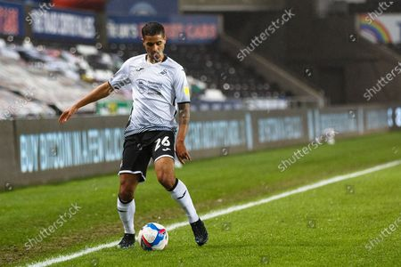 Swansea City defender Kyle Naughton (26) during the EFL Sky Bet Championship match between Swansea City and Coventry City at the Liberty Stadium, Swansea