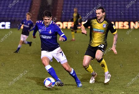 Editorial picture of Oldham Athletic v Barrow, Sky Bet League Two, Boundary Park, Oldham - 23 Feb 2021
