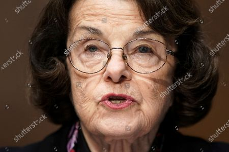 Sen. Dianne Feinstein, D-Calif., speaks a Senate Finance Committee hearing on the nomination of Xavier Becerra to be Secretary of Health and Human Services on Capitol Hill in Washington