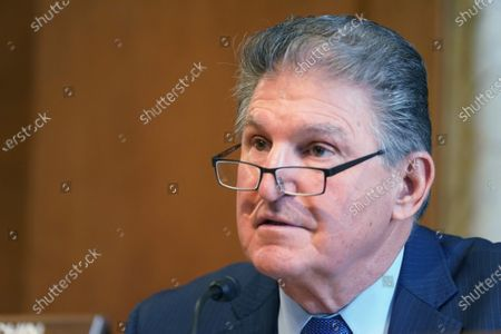 United States Senator Joe Manchin III (Democrat of West Virginia), Chairman, US Senate Committee on Energy and Natural Resources , ask questions at the confirmation hearing for Rep. Debra Haaland, D-NM., President Joe Biden's nominee for Secretary of the Interior, at the U.S. Capitol in Washington DC,.