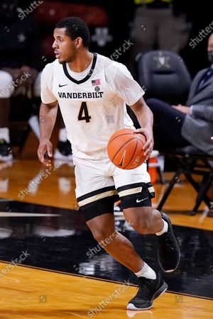 Vanderbilt's Jordan Wright (4) plays against Tennessee in the second half of an NCAA college basketball game, in Nashville, Tenn