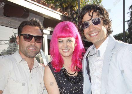 Oscar De La Hoya, Tarina Tarantino and Alfonso Campos