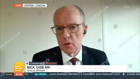Editorial picture of 'Good Morning Britain' TV Show, London, UK - 25 Feb 2021