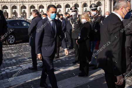 Stock Image of Foreign Minister Luigi Di Maio before  state funeral of the Italian ambassador to Congo Luca Attanasio and the carabiniere Vittorio Iacovacci,