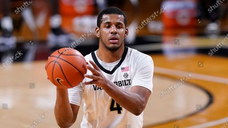 Vanderbilt's Jordan Wright plays against Tennessee in an NCAA college basketball game, in Nashville, Tenn