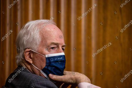 Sen. John Cornyn (R-TX) during the Senate Finance committee hearings to examine Katherine Tai's nomination to be United States Trade Representative, with the rank of Ambassador, in Washington, DC, USA, 25 February 2021.