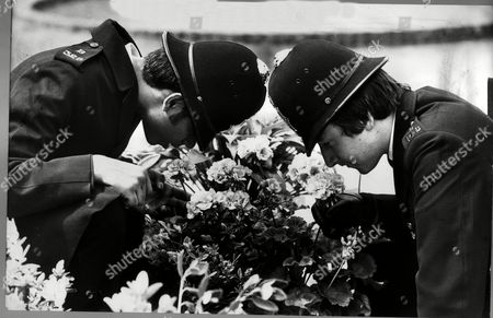 Pc Ian Sammie Left And Pc Tony King At The 1978 Chelsea Flower Show