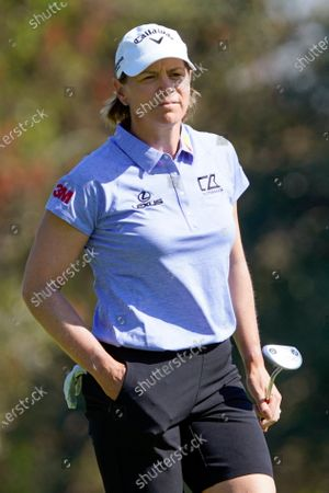 Stock Picture of Annika Sorenstam walks to the tenth green during the first round of the Gainbridge LPGA golf tournament, in Orlando, Fla
