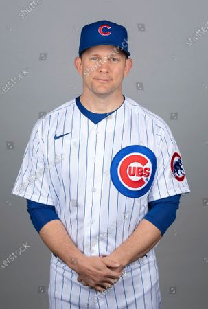 This is a 2021 photo of Andy Green of the Chicago Cubs baseball team. This image reflects the Chicago Cubs active roster as of when this image was taken