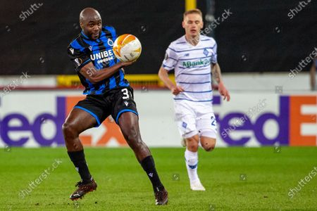 Club's Eder Balanta pictured in action during a game between Belgian soccer team Club Brugge KV and Ukrainian FC Dynamo Kyiv, Thursday 25 February 2021, in Brugge, the return of the 1/16 finals of the UEFA Europa League competition. Result of the first leg was a draw 1-1