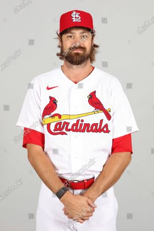 Stock Picture of This is a 2021 photo of Andrew Miller of the St. Louis Cardinals baseball team. This image reflects the St. Louis Cardinals active roster as of when this image was taken