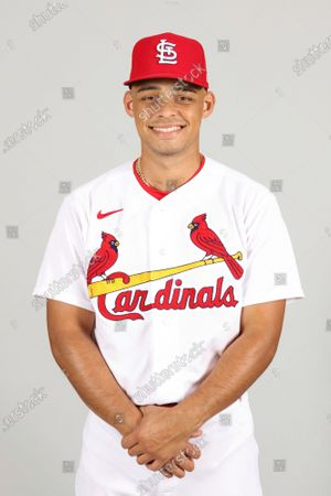 This is a 2021 photo of Jordan Hicks of the St. Louis Cardinals baseball team. This image reflects the St. Louis Cardinals active roster as of when this image was taken