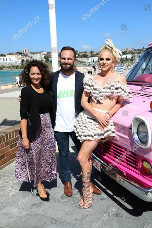 Florencia Aimo, Albert Kruger and Courtney Act