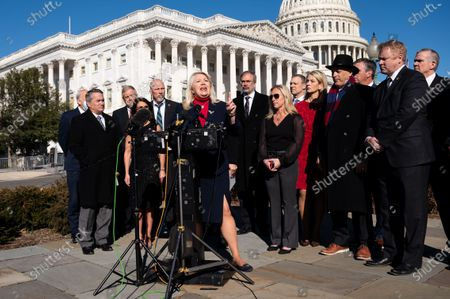 U.S. Representative Debbie Lesko (R-AZ) speaks at a House Freedom Caucus press conference about the Equality Act.