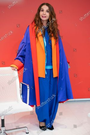 The actress Victoria Abril poses during the masterclass of the Feroz Awards in Madrid February 25, 2021 Spain (Photo by Oscar Gonzalez/NurPhoto)