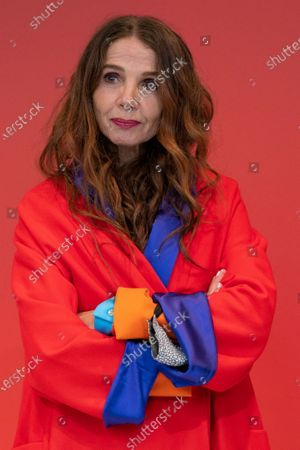 Stock Photo of The actress Victoria Abril poses during the masterclass of the Feroz Awards in Madrid February 25, 2021 Spain (Photo by Oscar Gonzalez/NurPhoto)