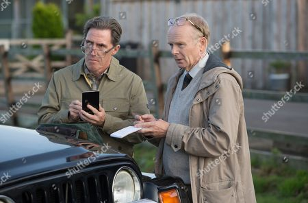Stock Photo of Jason Watkins as DS Dodds and Rob Brydon as Roy Gilbert.