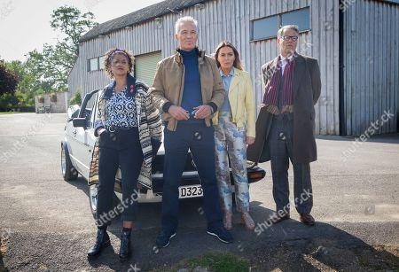 Stock Image of Cathy Tyson as Jackie, Martin Kemp as Mick, Patsy Kensit as Barbara and Rupert Graves as Gordon.