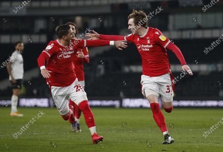 Stock Picture of Nottingham Forest's James Garner celebrates the first goal