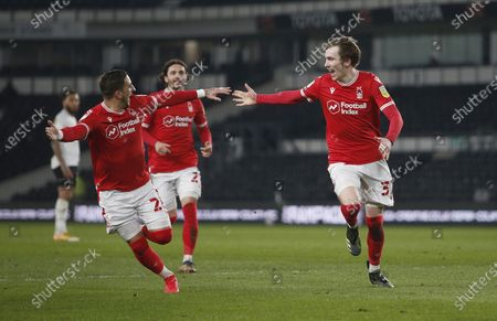 Nottingham Forest's James Garner celebrates the first goal
