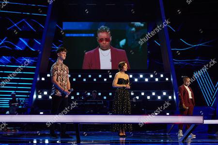 Battles: Team AM: Cameron Ledwidge and Leona Jorgenson perform, watched by Emma Willis