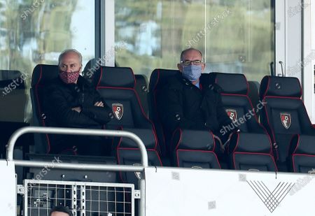 Stock Image of Bournemouth first team coach Joe Jordan is seen in the stand.