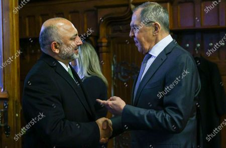 Editorial image of Afghan FM Atmar in Moscow, Russian Federation - 26 Feb 2021