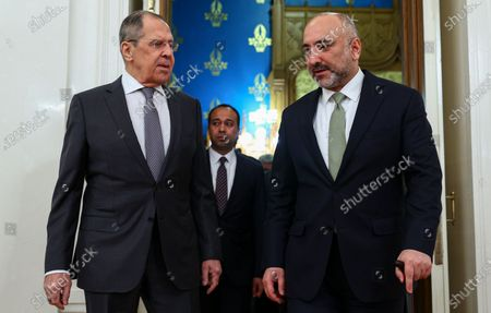 Editorial picture of Afghan FM Atmar in Moscow, Russian Federation - 26 Feb 2021