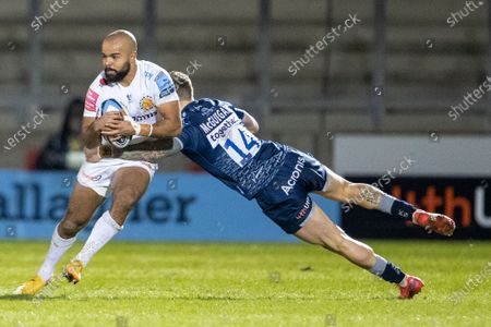Editorial picture of Sale Sharks v Exeter Chiefs, Gallagher Premiership, Rugby Union, AJ Bell Stadium, Salford, UK - 26 Feb 2021