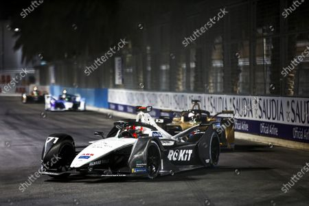 Norman Nato (FRA) Venturi Racing, Silver Arrow 02, leads Antonio Felix da Costa (PRT) DS Techeetah, DS E-Tense FE20 during the 2021 Formula E Round 1 - Diriyah E-Prix in this Handout Photo from the FIA Formula E World Championship for editorial use only (no commercial use)