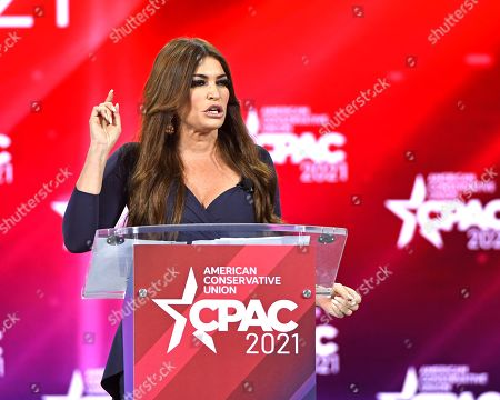 Kimberly Guilfoyle addresses attendees at the Conservative Political Action Conference (CPAC) 2021 hosted by the American Conservative Union at the Hyatt Regency Orlando