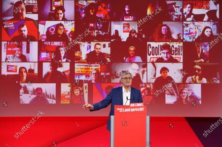 Editorial image of Die Linke holds virtual Federal Congress, Berlin, Germany - 26 Feb 2021