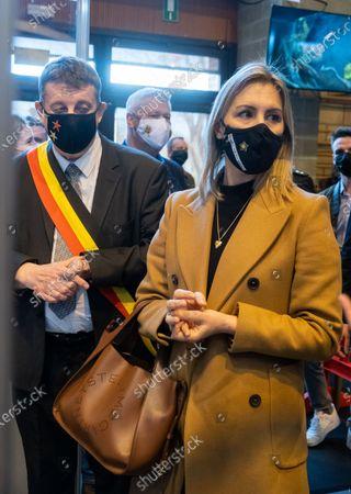 Editorial photo of Covid-19 Tournai Vaccination Campaign Defence Visit, Tournai, Belgium - 26 Feb 2021