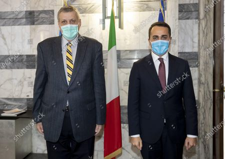 Editorial image of Italian Foreign Minister Luigi Di Maio meets Jan Kubis, Rome, Italy - 26 Feb 2021