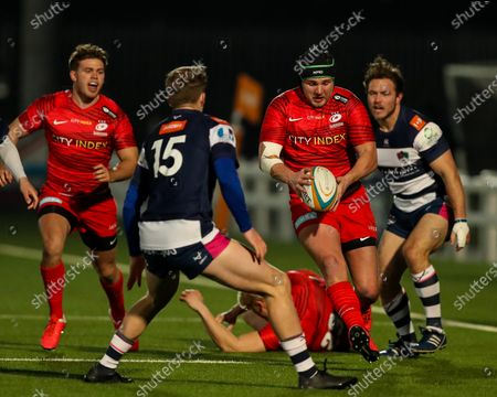 Editorial photo of Coventry Rugby v Saracens, UK - 26 Feb 2021
