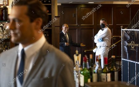 Editorial image of Madame Tussauds Wax Figures at Famous New York Steak House, USA - 26 Feb 2021