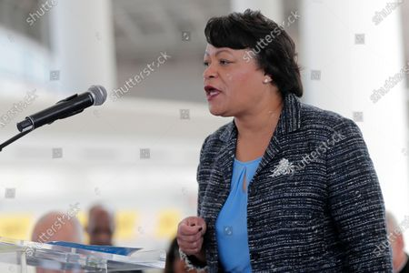 New Orleans Mayor Latoya Cantrell speaks at a ribbon cutting ceremony for the opening the newly built main terminal of the Louis Armstrong New Orleans International Airport in Kenner, La. New Orleans plans to relax some coronavirus restrictions on . Mayor LaToya Cantrell's office says the past 30 days have shown a sustained decrease in case counts and positivity rates
